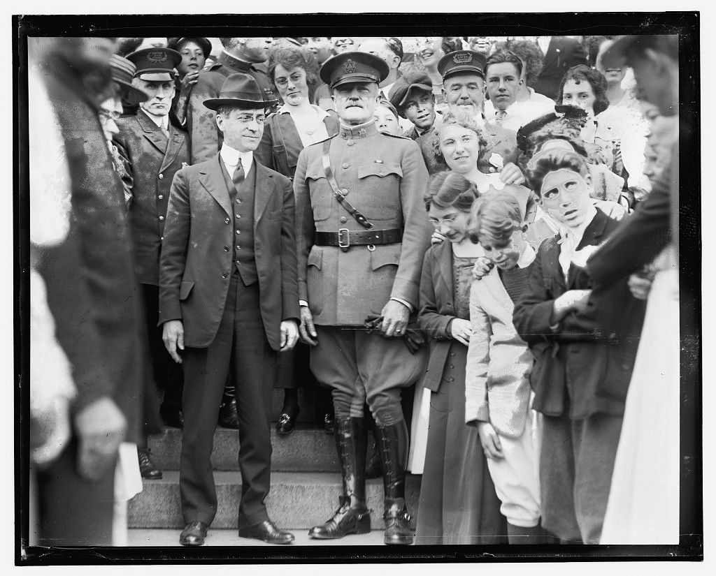 16 x 20 Gallery Wrapped Frame Art Canvas Print of  Gen. Pershing's arrival, Wash. D.C. 1909 National Photo Co  79a