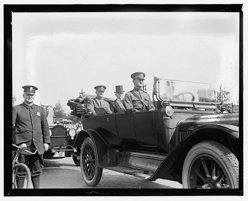 16 x 20 Gallery Wrapped Frame Art Canvas Print of  Gen. Pershing's arrival, Wash. D.C. 1909 National Photo Co  80a