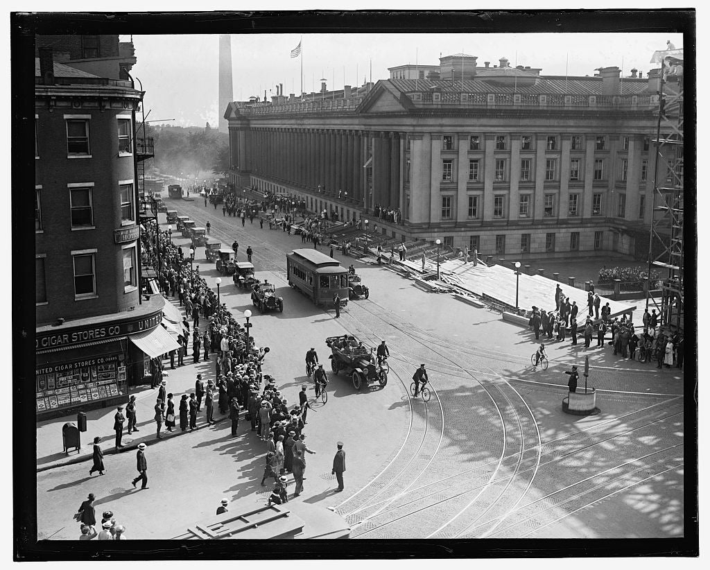 16 x 20 Reprinted Old Photo of Gen. Pershing's arrival, Wash. D.C. 1909 National Photo Co  23a