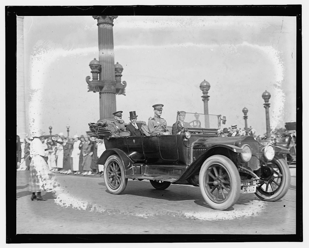 16 x 20 Gallery Wrapped Frame Art Canvas Print of  Gen. Pershing's arrival, Wash. D.C. 1909 National Photo Co  81a