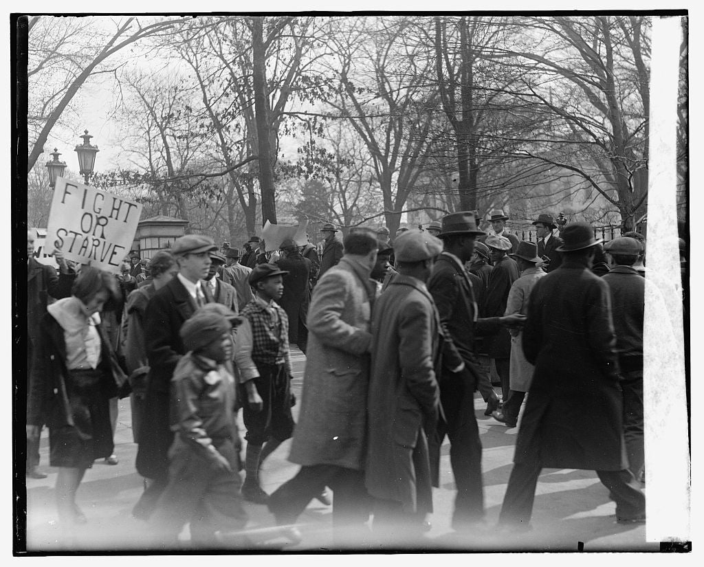 16 x 20 Gallery Wrapped Frame Art Canvas Print of  Protesters 1909 National Photo Co  90a