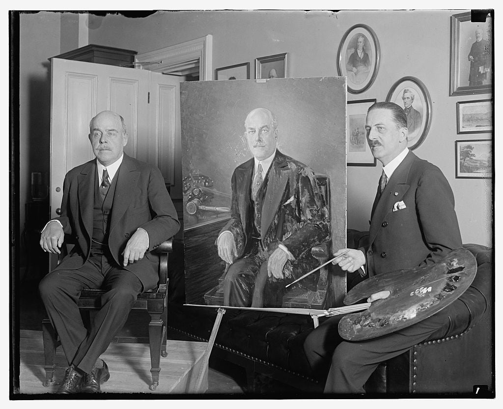 16 x 20 Reprinted Old Photo of [Unidentified man, portrait, and artist] 1909 National Photo Co  85a
