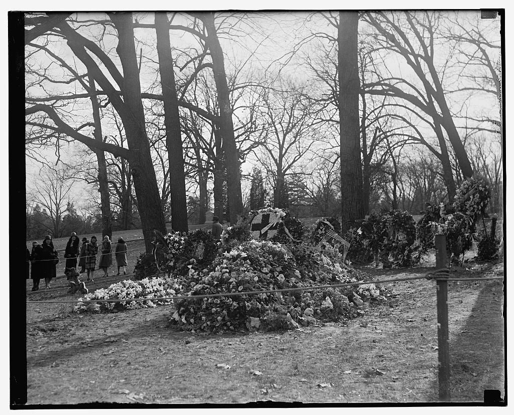 16 x 20 Reprinted Old Photo of Taft grave, Arlington, Va. 1909 National Photo Co  03a