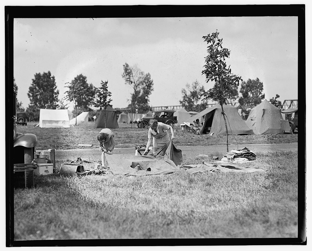 16 x 20 Gallery Wrapped Frame Art Canvas Print of  Camping 1909 National Photo Co  09a