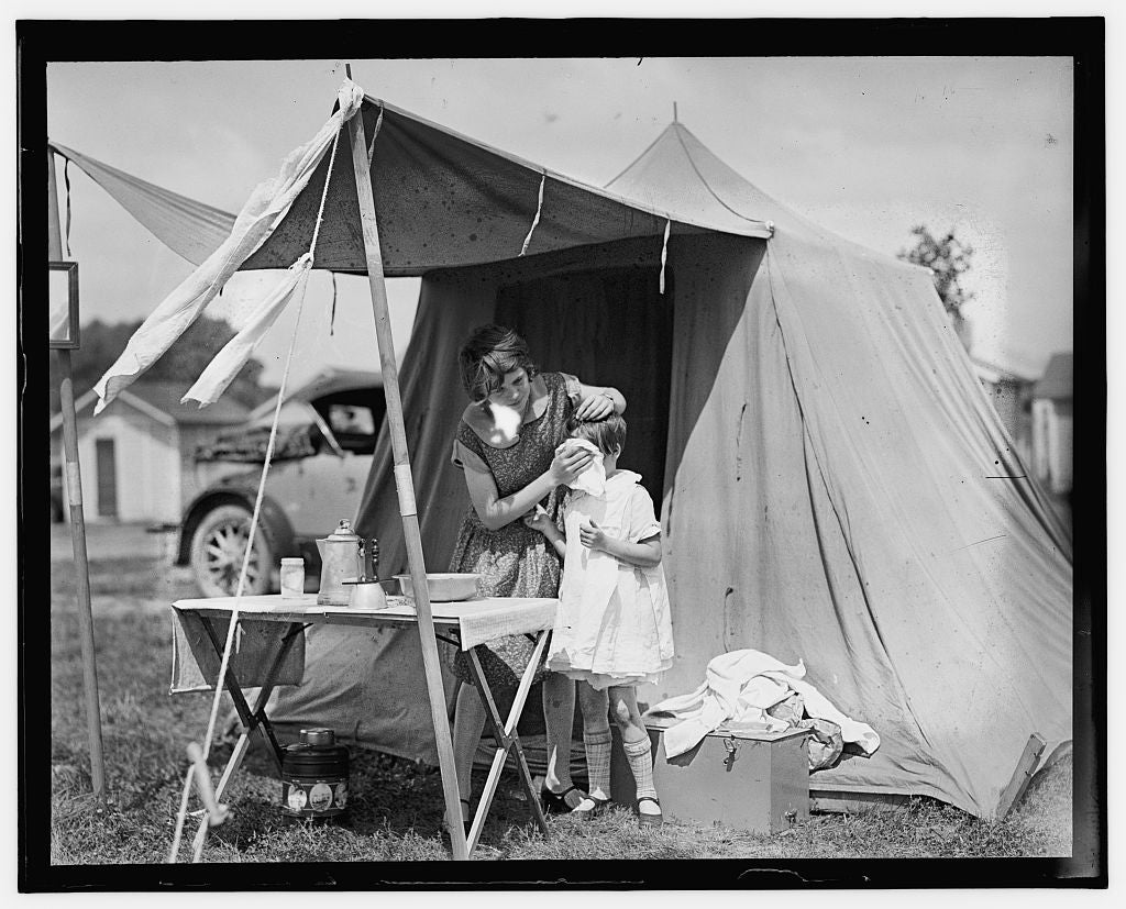 16 x 20 Gallery Wrapped Frame Art Canvas Print of  Camping 1909 National Photo Co  59a