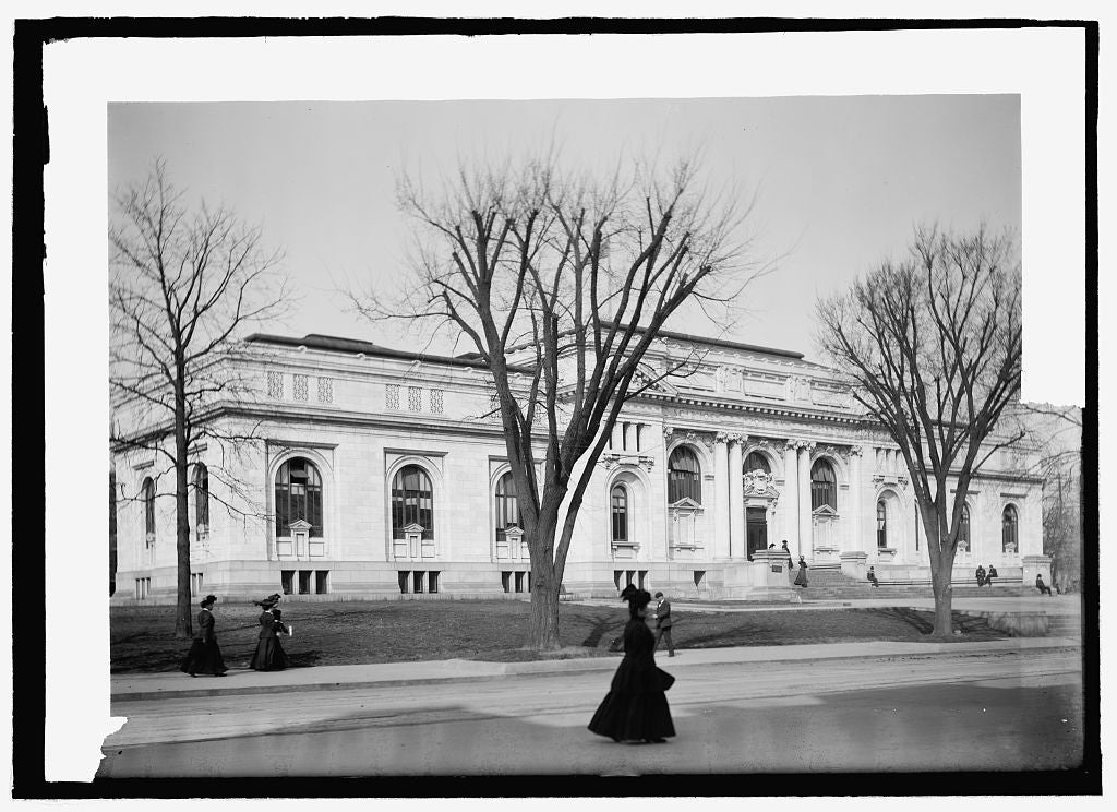 8 x 10 Reprinted Old Photo of  Carnegie Library 1909 National Photo Co  43a