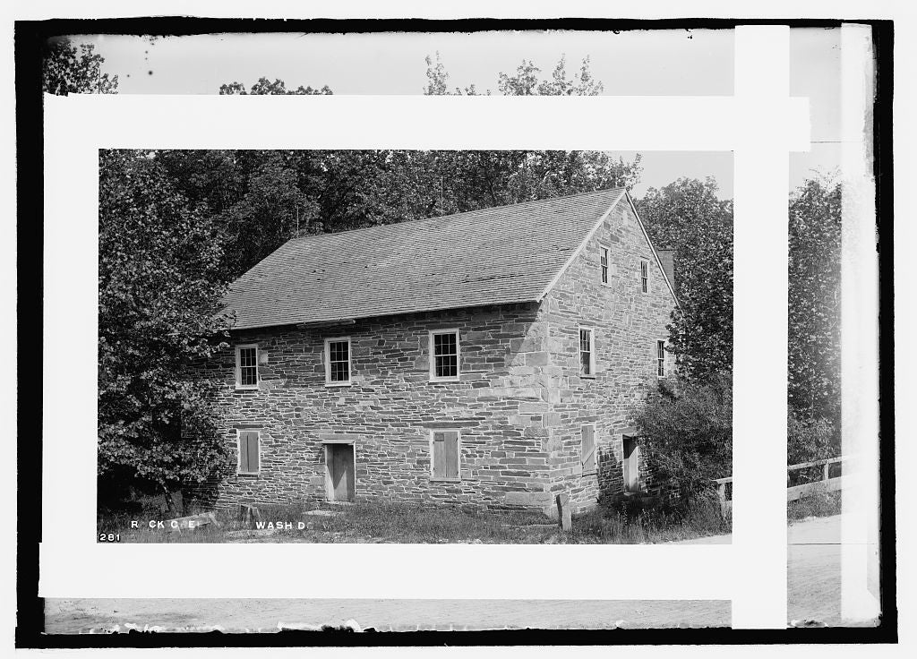 8 x 10 Reprinted Old Photo of  Rock Creek Park, old mill 1909 National Photo Co  00a