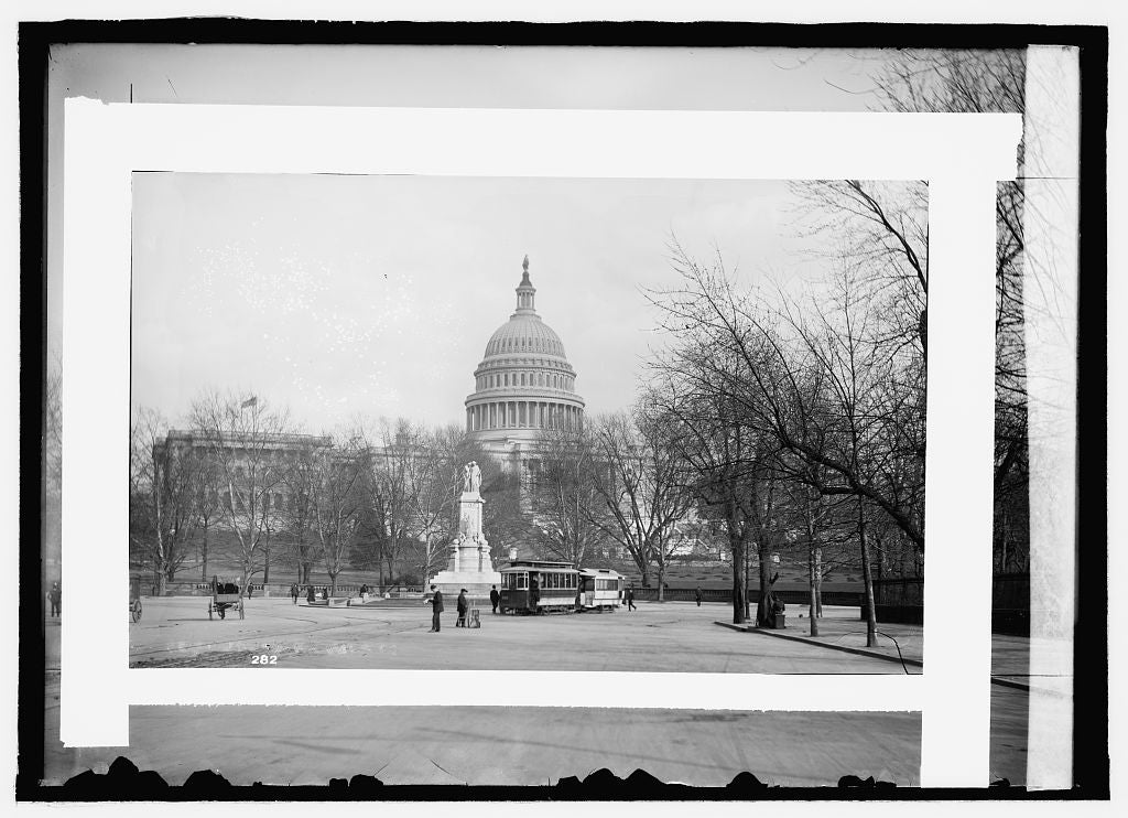 16 x 20 Reprinted Old Photo of Peace Monument & Capitol 1909 National Photo Co  01a
