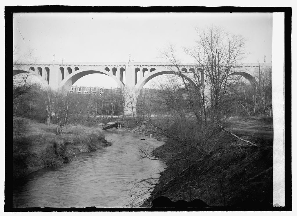 16 x 20 Reprinted Old Photo ofConn. Ave Bridge 1916 National Photo Co  85a