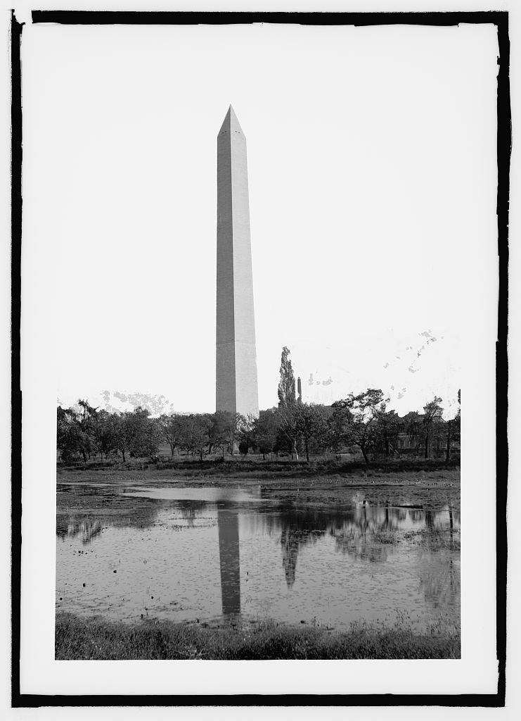 8 x 10 Reprinted Old Photo of  Monument 1909 National Photo Co  11a