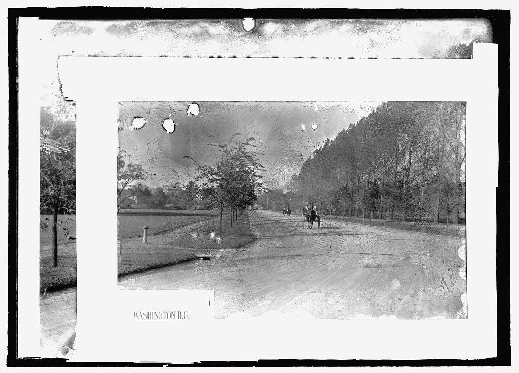 16 x 20 Reprinted Old Photo of Speedway, Washington, D.C. 1909 National Photo Co  18a