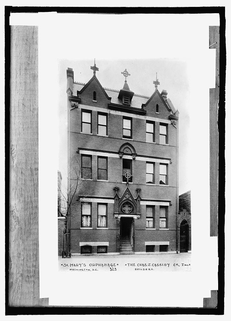 8 x 10 Reprinted Old Photo of  St. Mary's Orphanage, Washington, D.C. 1909 National Photo Co  23a