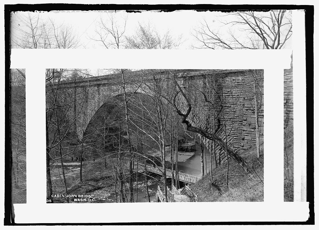 16 x 20 Reprinted Old Photo of Cabin John Bridge 1909 National Photo Co  33a