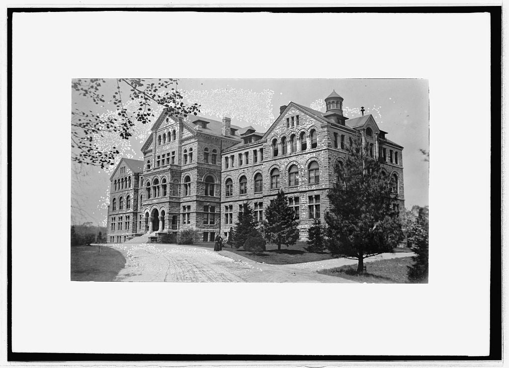 8 x 10 Reprinted Old Photo of McMahon Hall, C.U. 1914 National Photo Co  53a