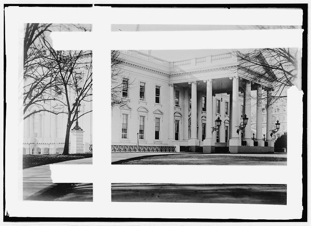 16 x 20 Reprinted Old Photo ofWhite House 1914 National Photo Co  89a