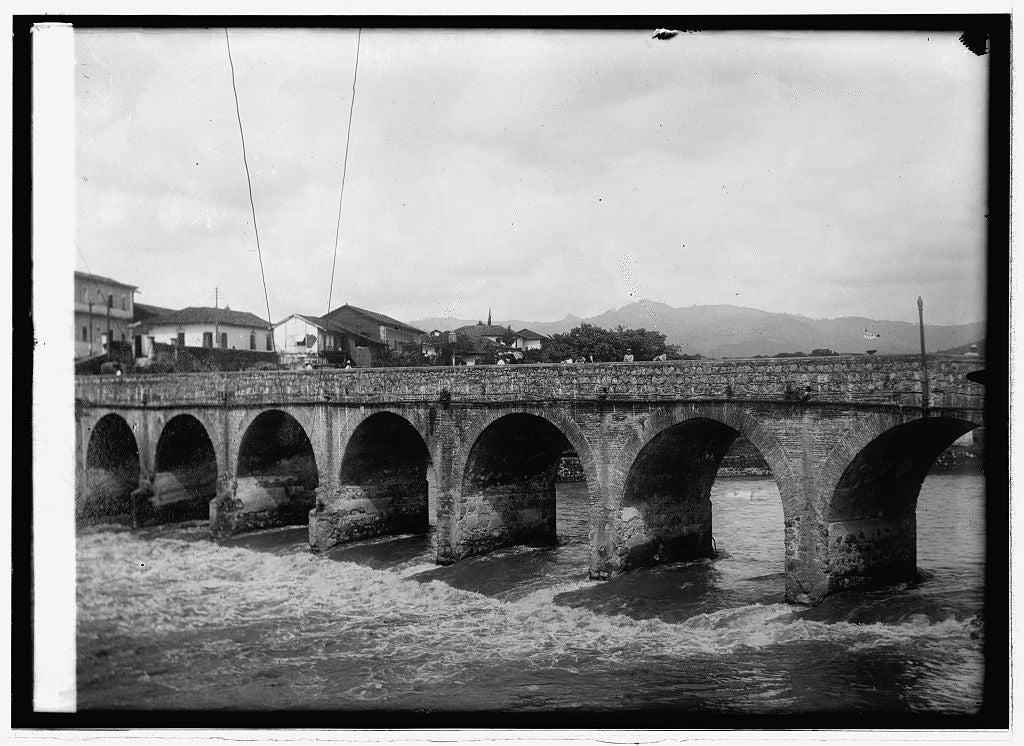 8 x 10 Reprinted Old Photo of Bridge construction, Tegucigalpa & Comayaguela, Honduras 1914 National Photo Co  30a