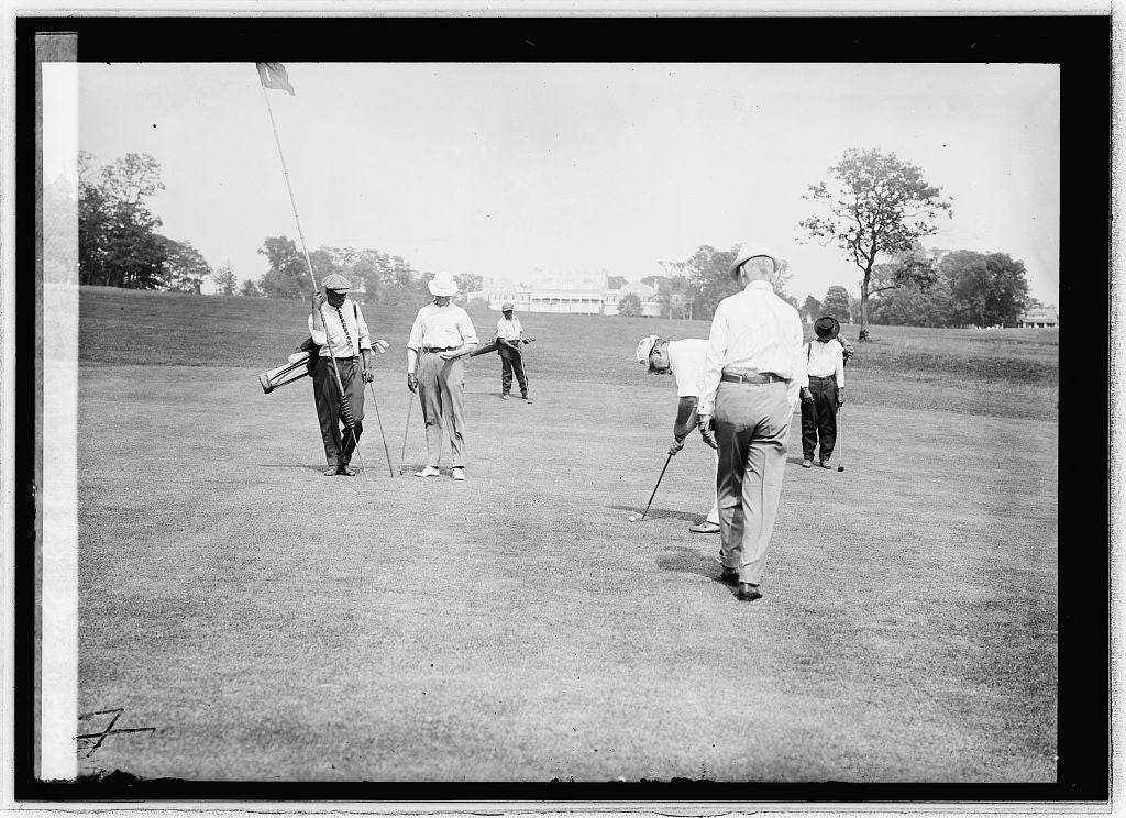 8 x 10 Reprinted Old Photo of Golf, CCC 1914 National Photo Co  42a