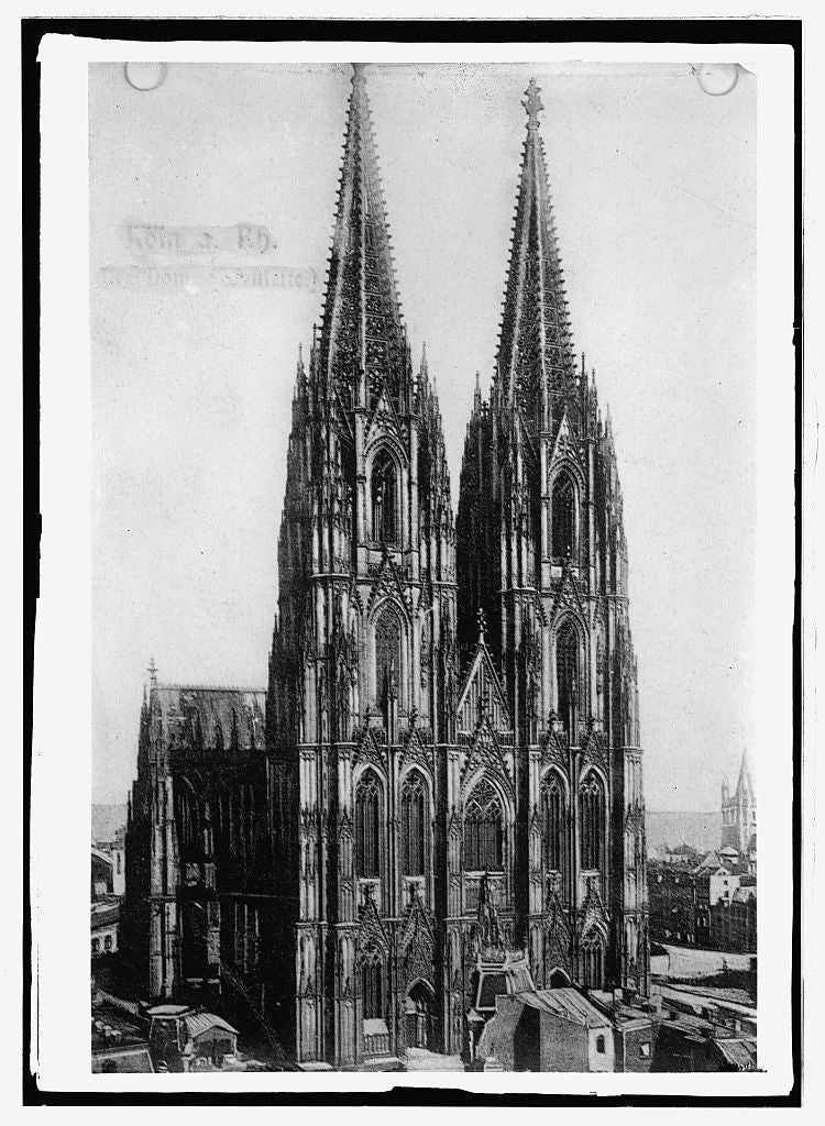 16 x 20 Reprinted Old Photo ofCathedral at Cologne, Germany 1914 National Photo Co  76a