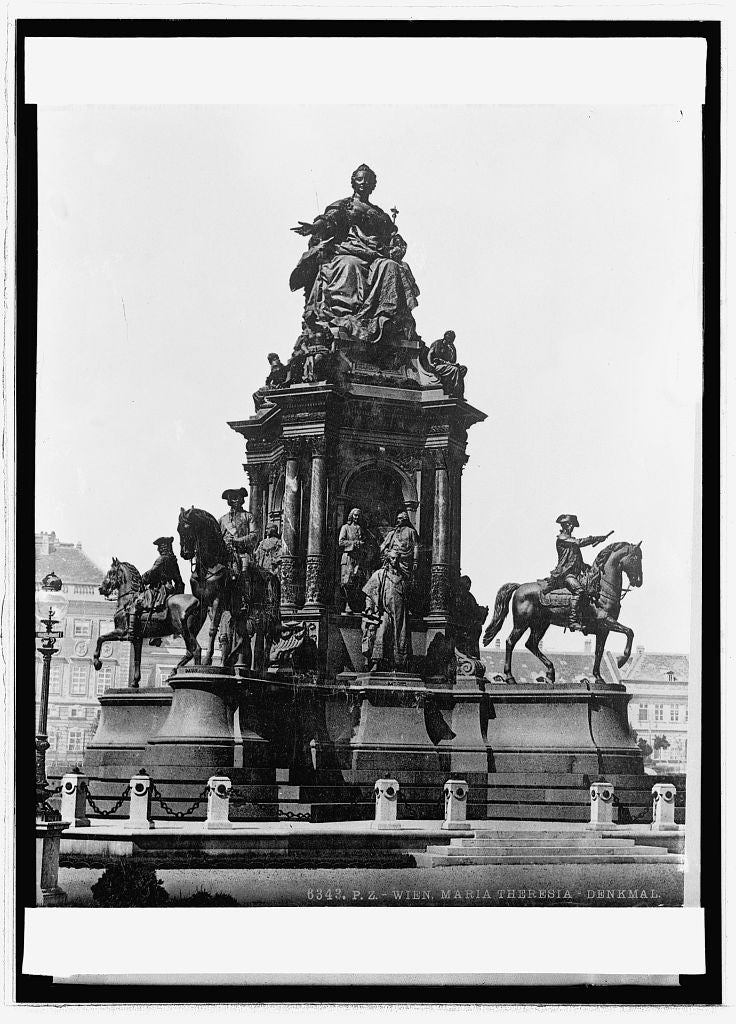 8 x 10 Reprinted Old Photo of Wien (Vienna), Austria. Monument to Maria Theresa 1914 National Photo Co  80a