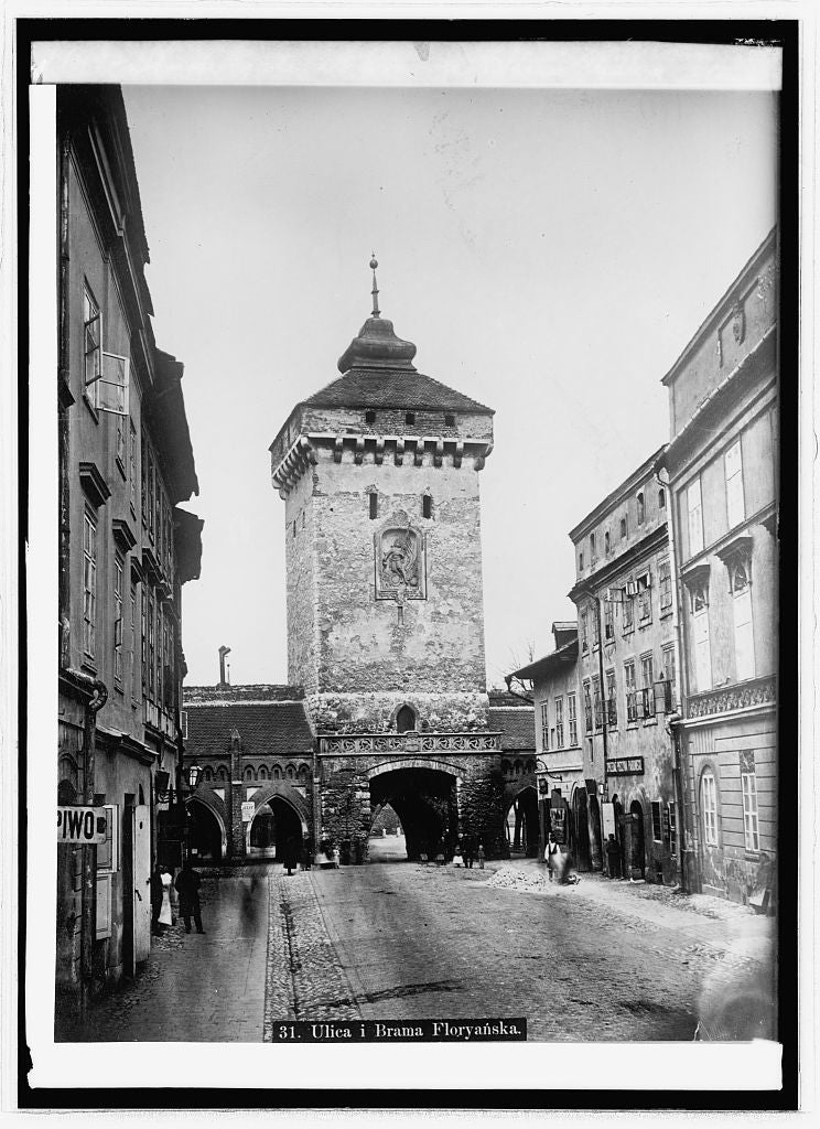 8 x 10 Reprinted Old Photo of Flower gate at Cracow, Glacia, Austria; Miss Stone 1914 National Photo Co  32a