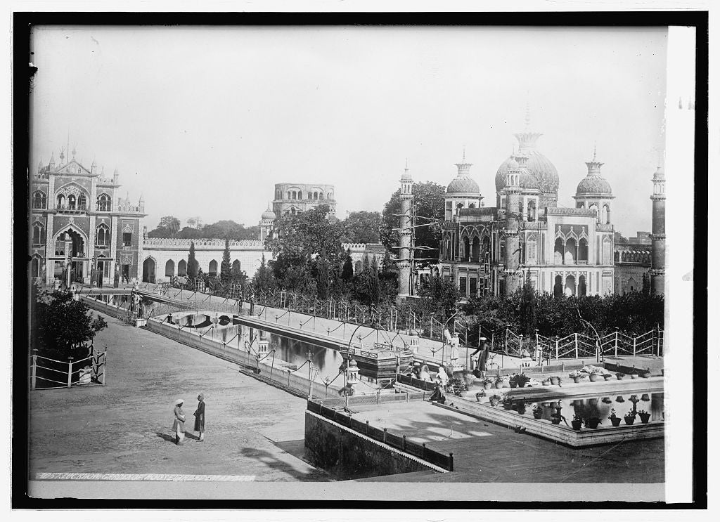 8 x 10 Reprinted Old Photo of Asia. India, Lucknow. Garden of Moosa bagh, Emeambad[?] 1914 National Photo Co  39a