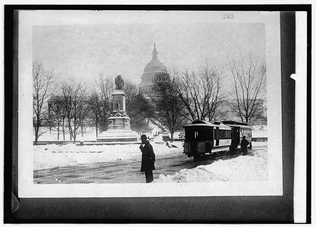 16 x 20 Reprinted Old Photo of: Capitol & Peace monument snow 1914 National Photo Co  31a