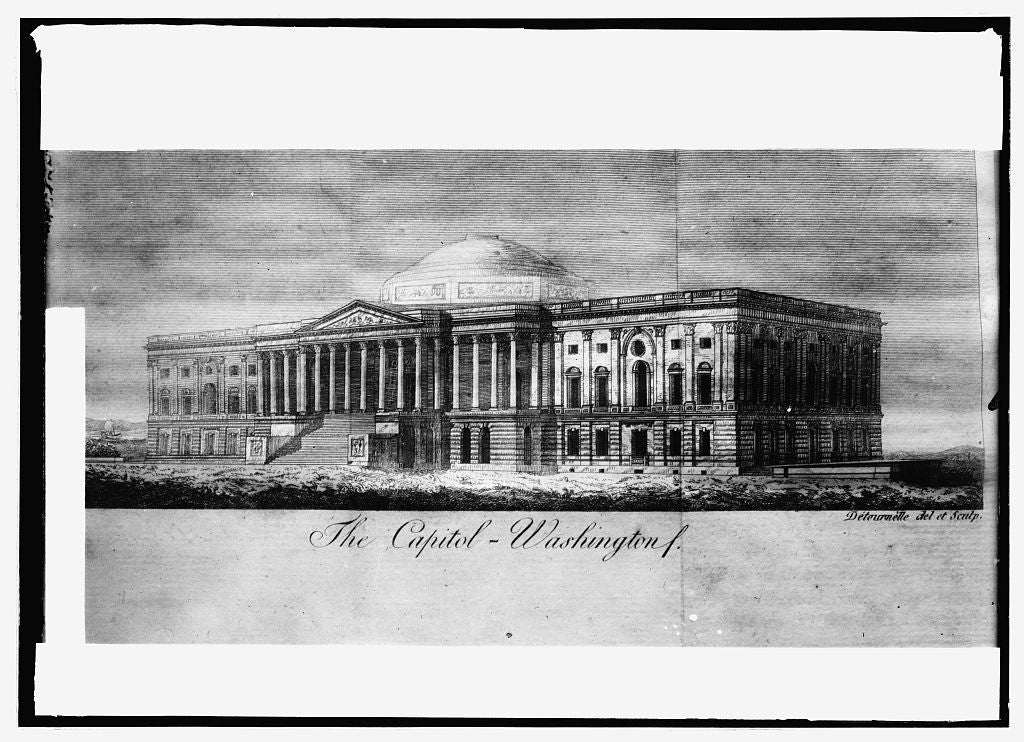 16 x 20 Reprinted Old Photo of East front Capitol 1914 National Photo Co  41a