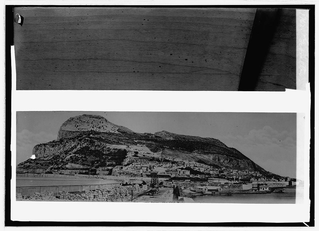 16 x 20 Reprinted Old Photo of: Gibraltar:  1914 National Photo Co  63a
