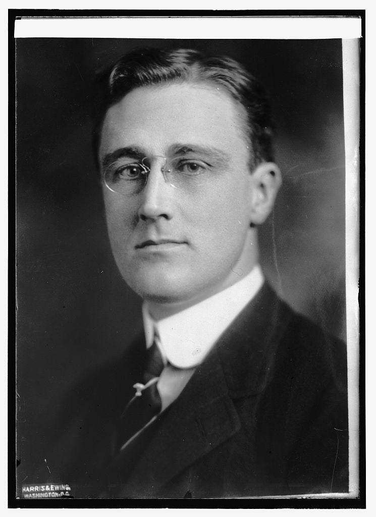 8 x 10 Reprinted Old Photo of Franklin D. Roosevelt, Asst. Secty. Navy 1914 National Photo Co  11a