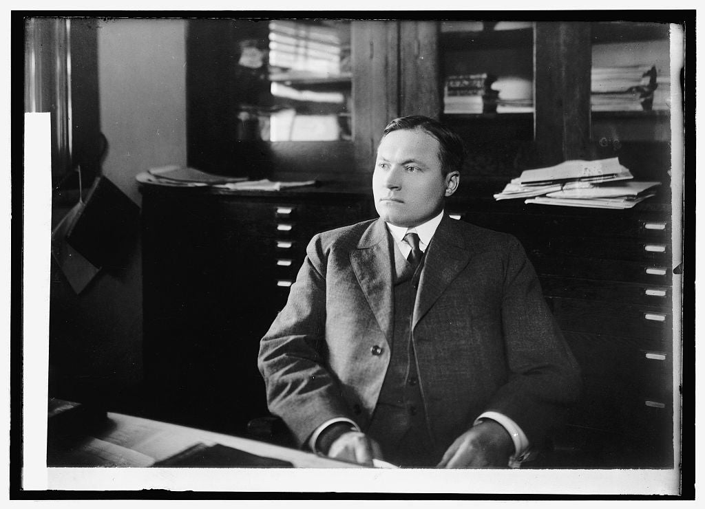 8 x 10 Reprinted Old Photo of C.J. Brand, Chief Ofc. of Markets 1914 National Photo Co  34a