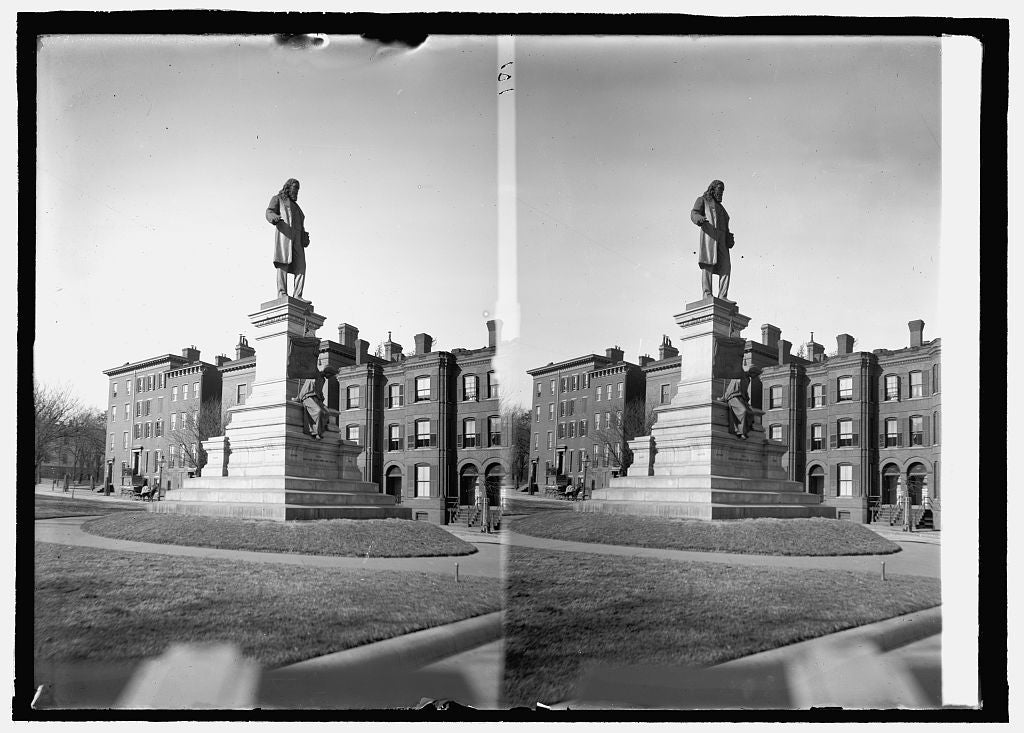 8 x 10 Reprinted Old Photo of Albert Pike statue 1914 National Photo Co  51a
