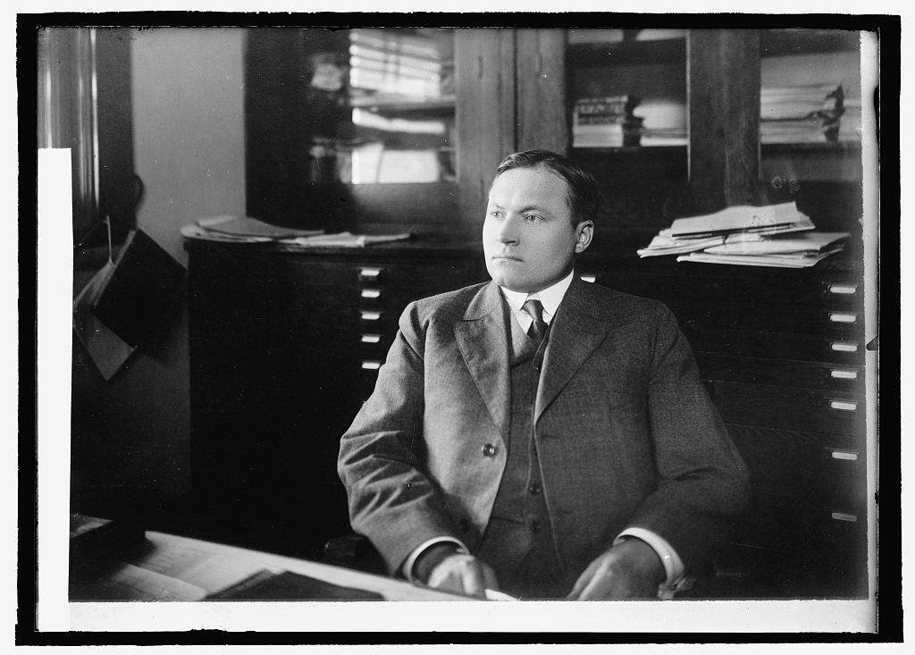 8 x 10 Reprinted Old Photo of C.J. Brand, Chief Ofc. of Markets 1914 National Photo Co  55a