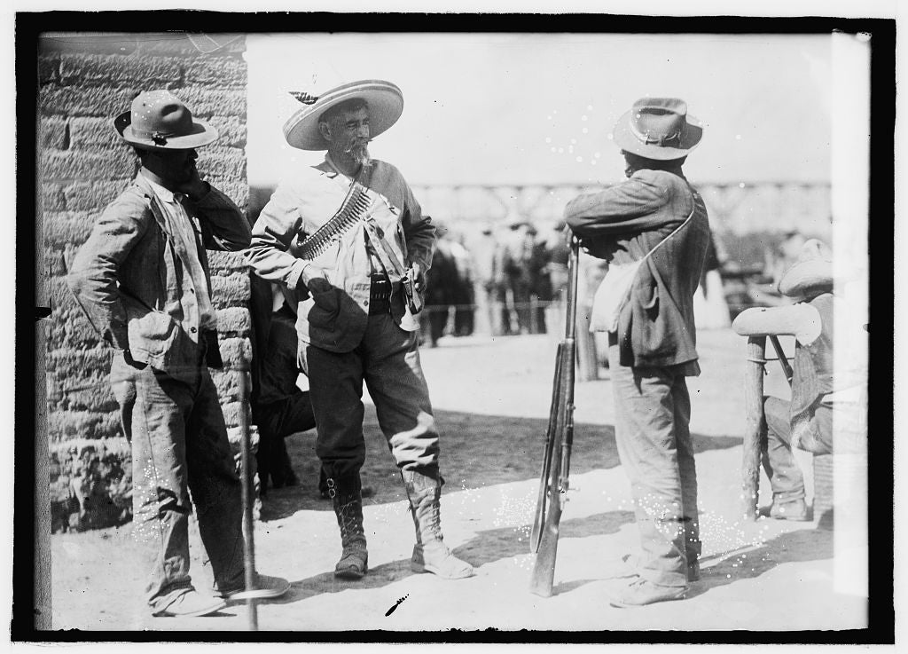 16 x 20 Reprinted Old Photo ofCastillo bandit Chief of Mexico 1914 National Photo Co  74a