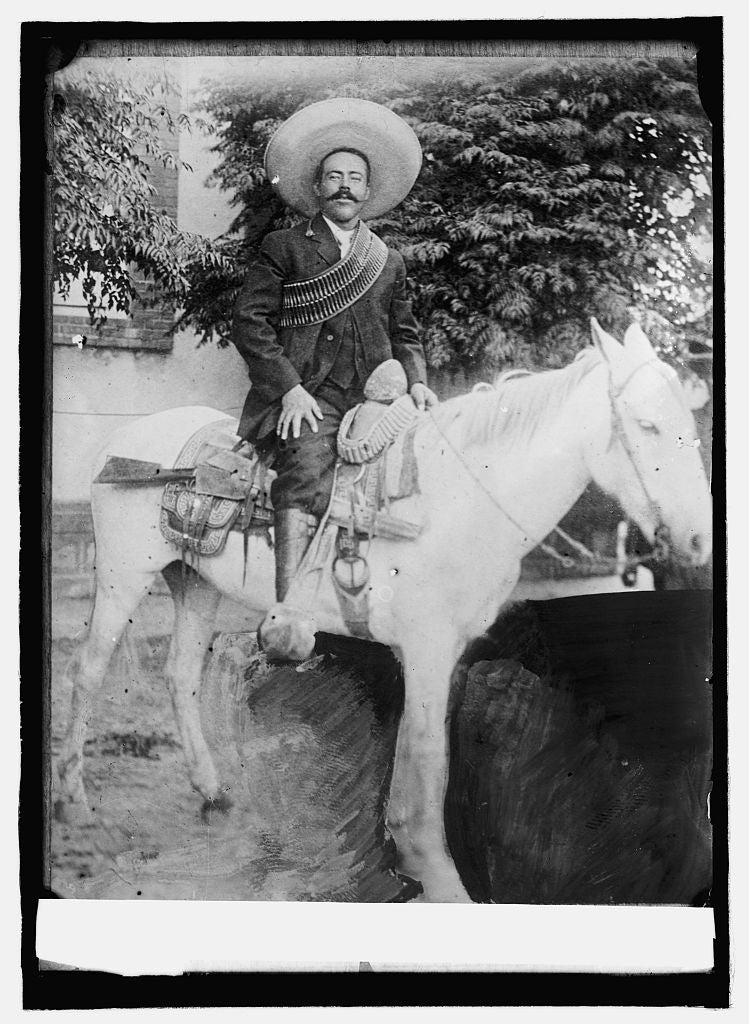 8 x 10 Reprinted Old Photo of Pancho Villa 1914 National Photo Co  97a