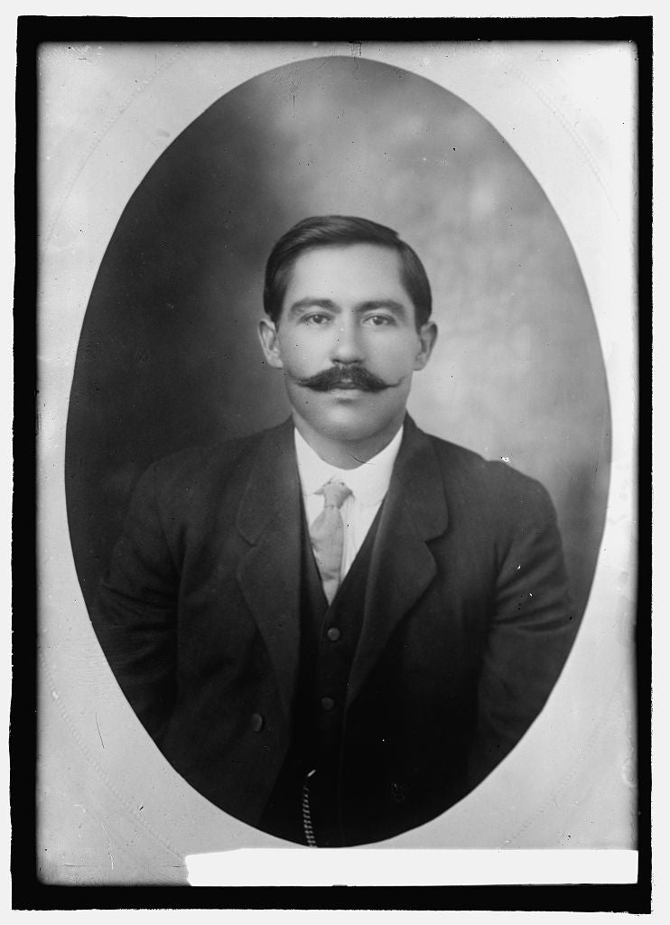 8 x 10 Reprinted Old Photo of Col. Pablo Luna, Mexico 1914 National Photo Co  02a