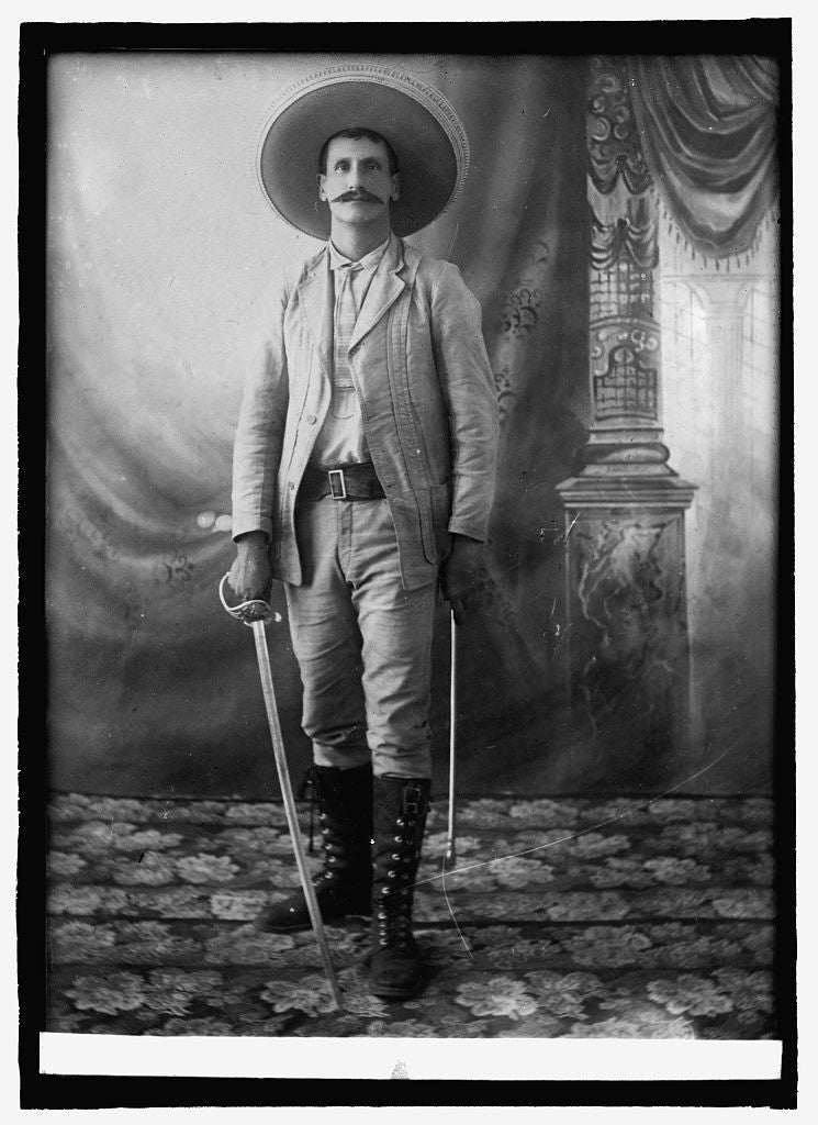 8 x 10 Reprinted Old Photo of Gen'l Domingo Arrieta, Mexico 1914 National Photo Co  04a
