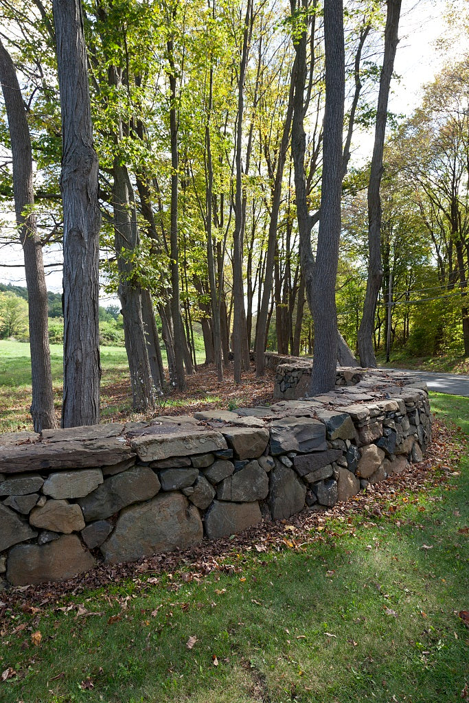 18 x 24 Photograph reprinted on fine art canvas  of Connecticut stone fences r29 2011 October by Highsmith, Carol M.