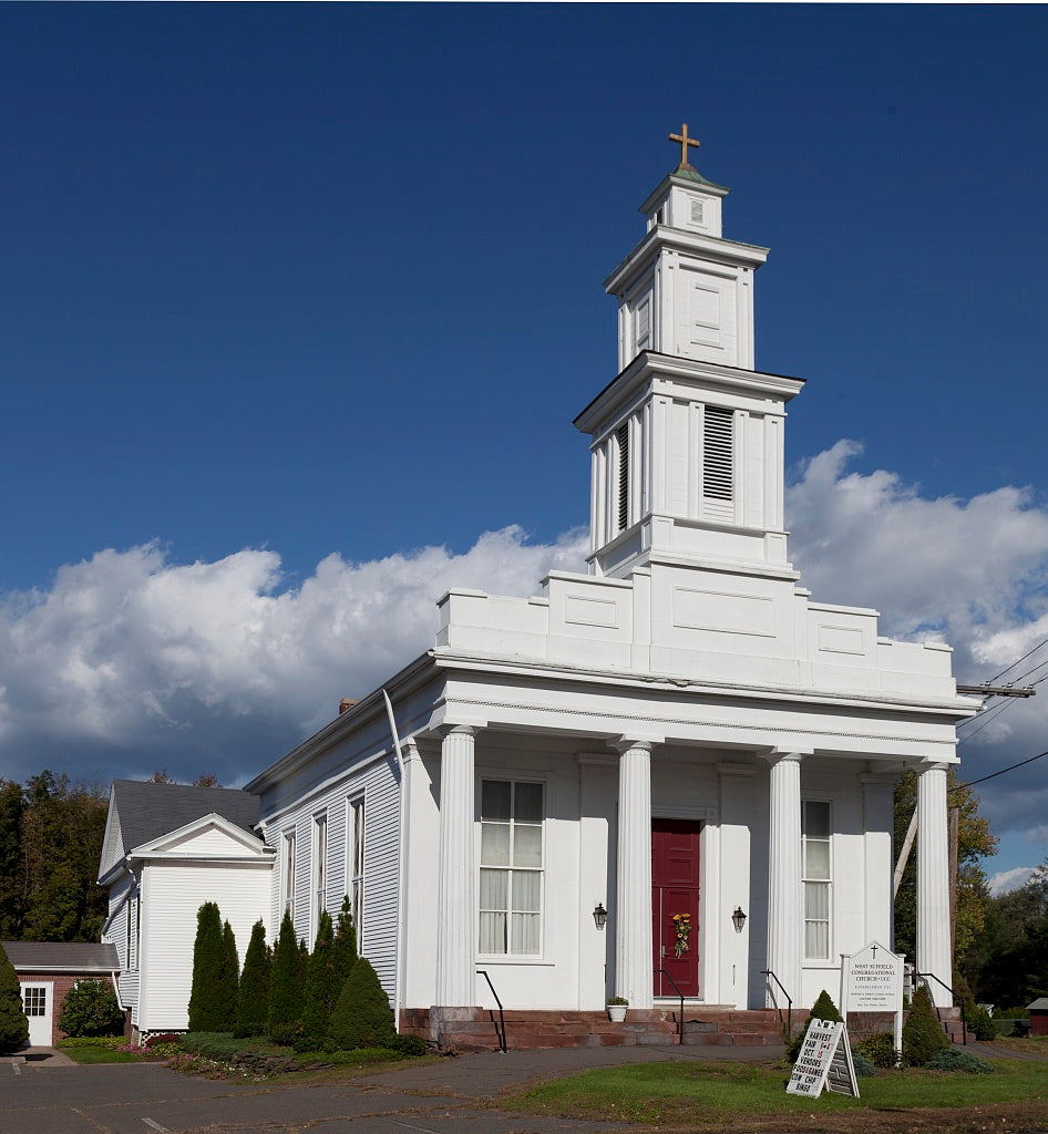 18 x 24 Photograph reprinted on fine art canvas  of West Suffield Congregational Church in West Suffield Connecticut r45 2011 October by Highsmith, Carol M.