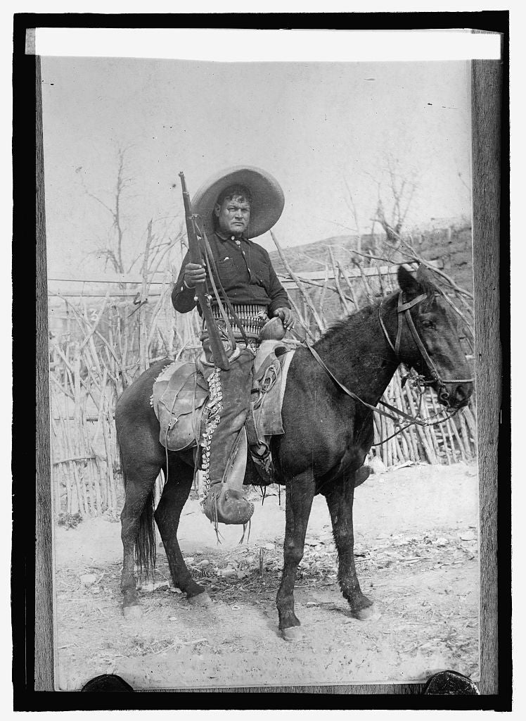 16 x 20 Reprinted Old Photo ofA Mexican Peon soldier 1914 National Photo Co  60a