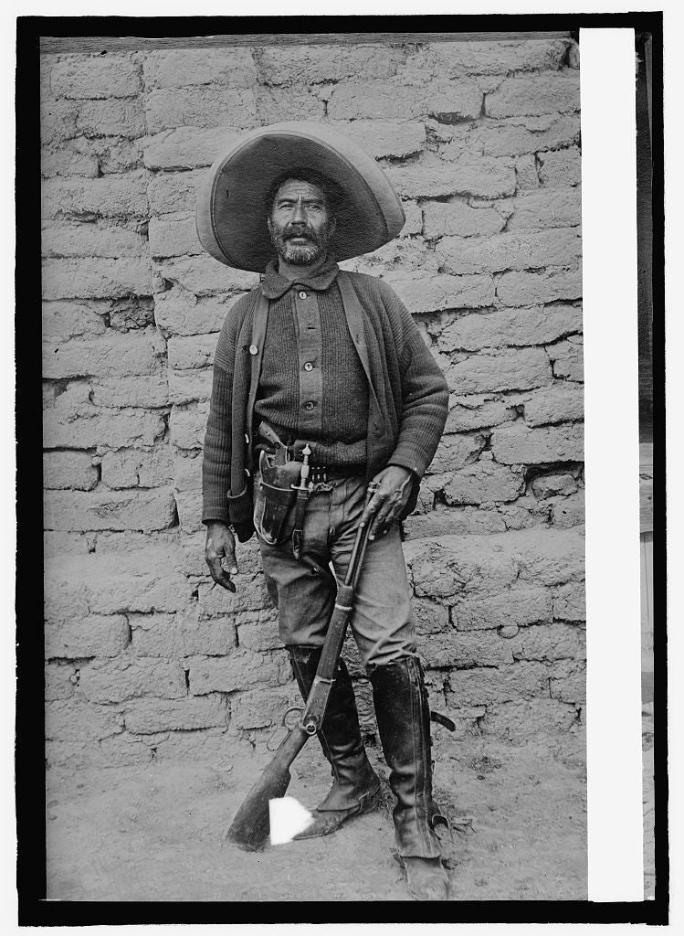8 x 10 Reprinted Old Photo of Mexico. A Peon volunteer 1914 National Photo Co  66a