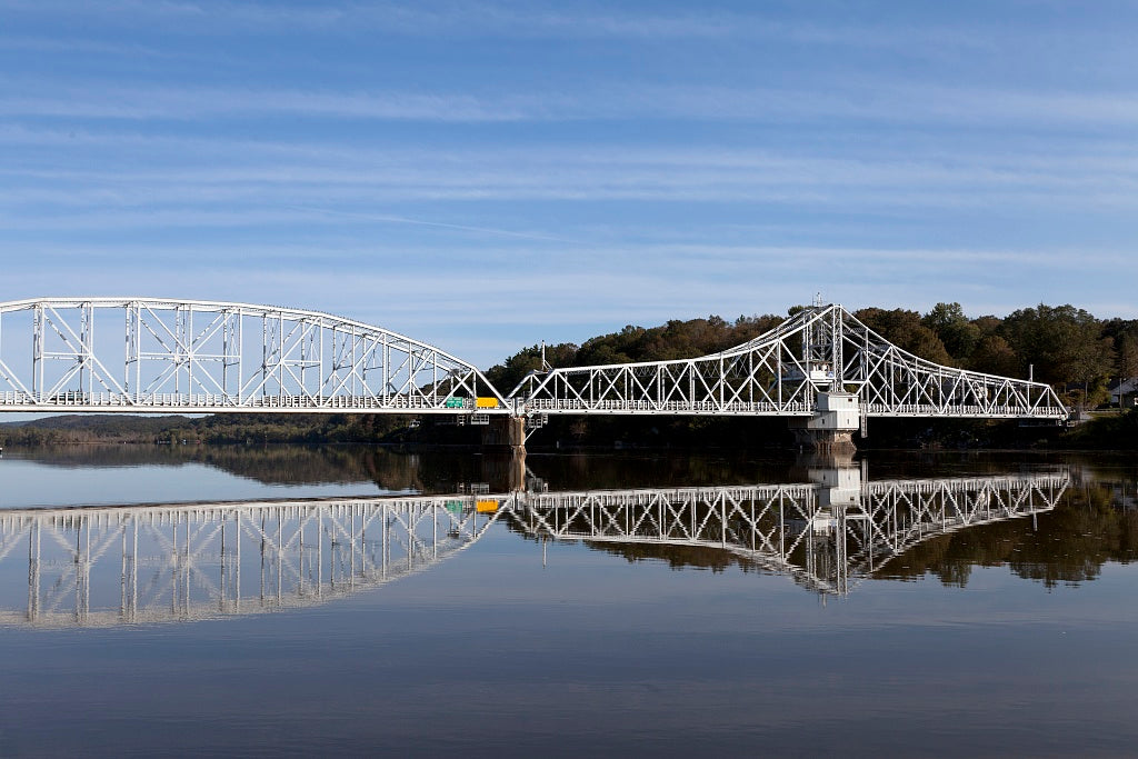 18 x 24 Photograph reprinted on fine art canvas  of East Haddam Bridge over the Connecticut River East Haddam Connecticut r96 2011 October by Highsmith, Carol M.