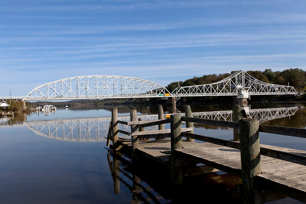 18 x 24 Photograph reprinted on fine art canvas  of East Haddam Bridge over the Connecticut River East Haddam Connecticut r97 2011 October by Highsmith, Carol M.