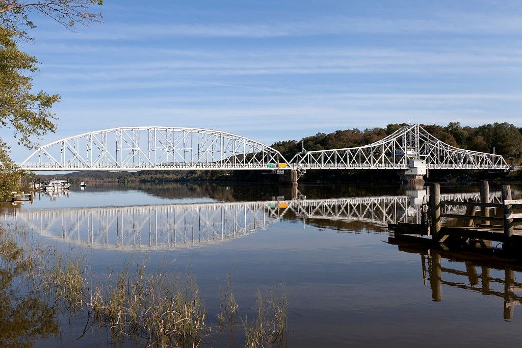 18 x 24 Photograph reprinted on fine art canvas  of East Haddam Bridge over the Connecticut River East Haddam Connecticut r98 2011 October by Highsmith, Carol M.