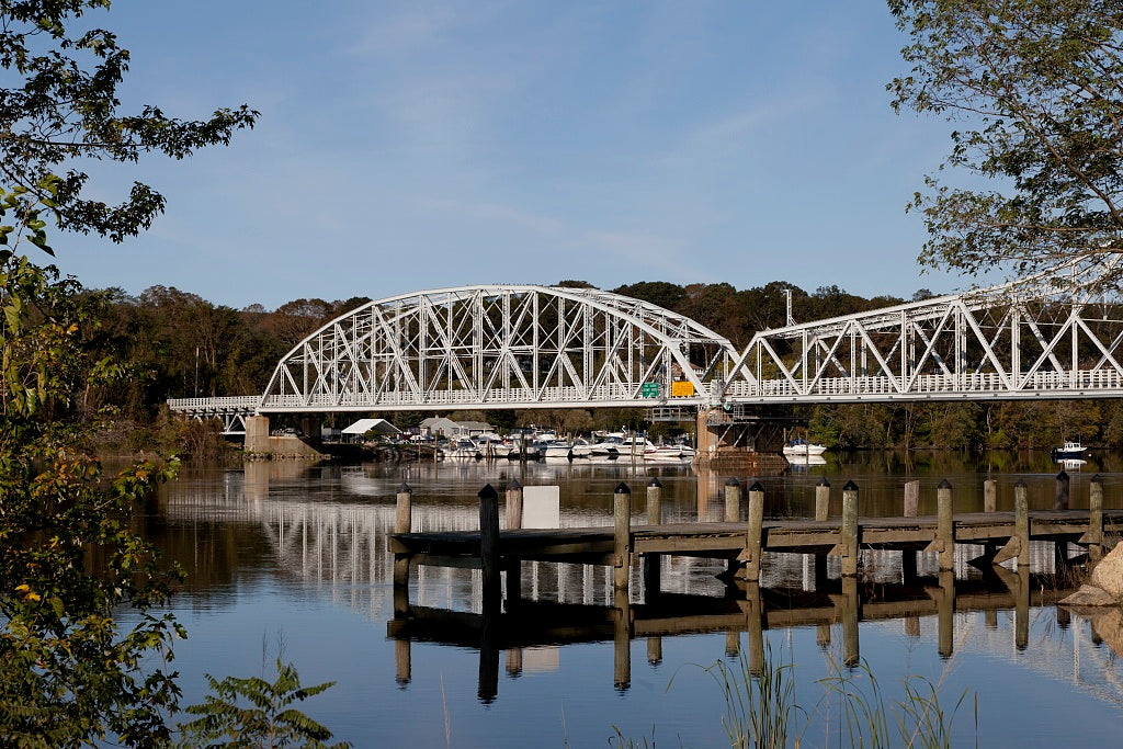 18 x 24 Photograph reprinted on fine art canvas  of East Haddam Bridge over the Connecticut River East Haddam Connecticut r02 2011 October by Highsmith, Carol M.