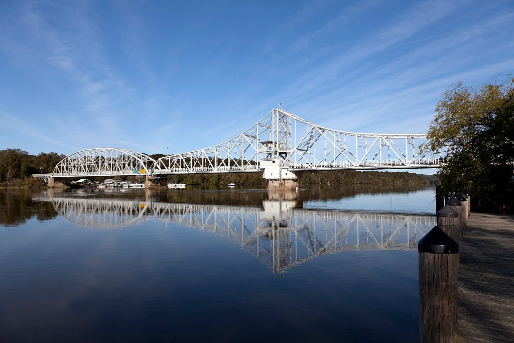 18 x 24 Photograph reprinted on fine art canvas  of East Haddam Bridge over the Connecticut River East Haddam Connecticut r04 2011 October by Highsmith, Carol M.