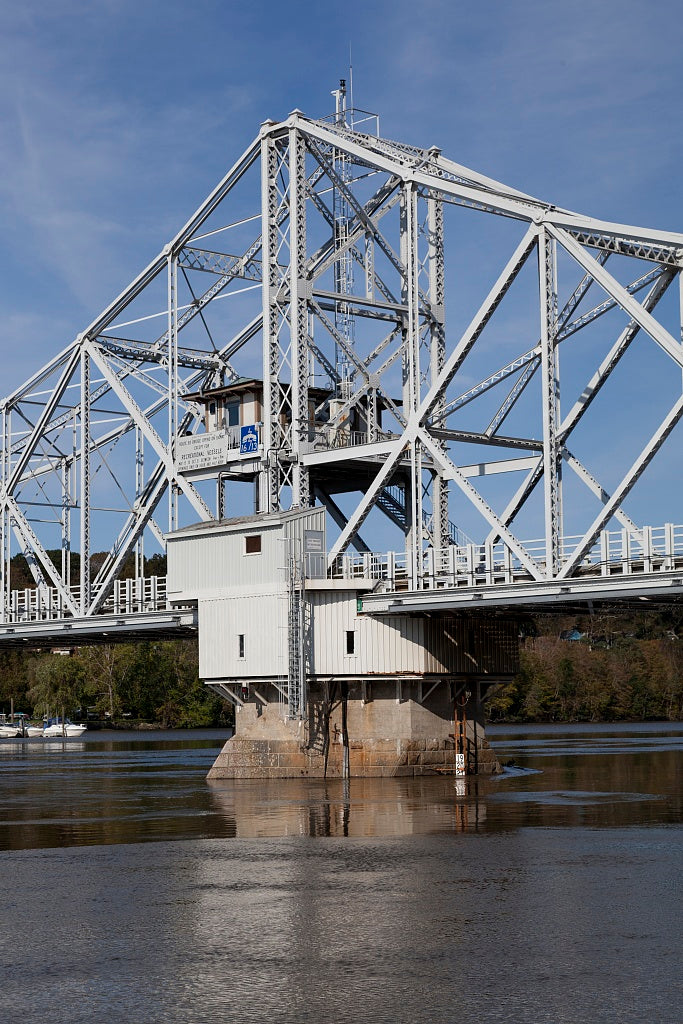 18 x 24 Photograph reprinted on fine art canvas  of East Haddam Bridge over the Connecticut River East Haddam Connecticut r59 2011 October by Highsmith, Carol M.