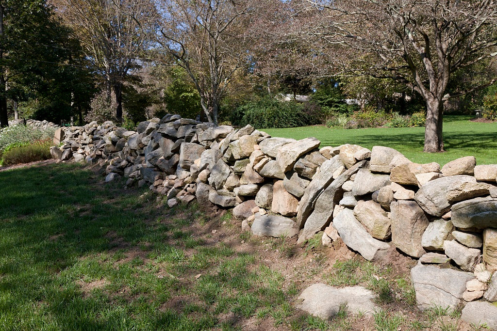 18 x 24 Photograph reprinted on fine art canvas  of Connecticut stone fences r77 2011 October by Highsmith, Carol M.