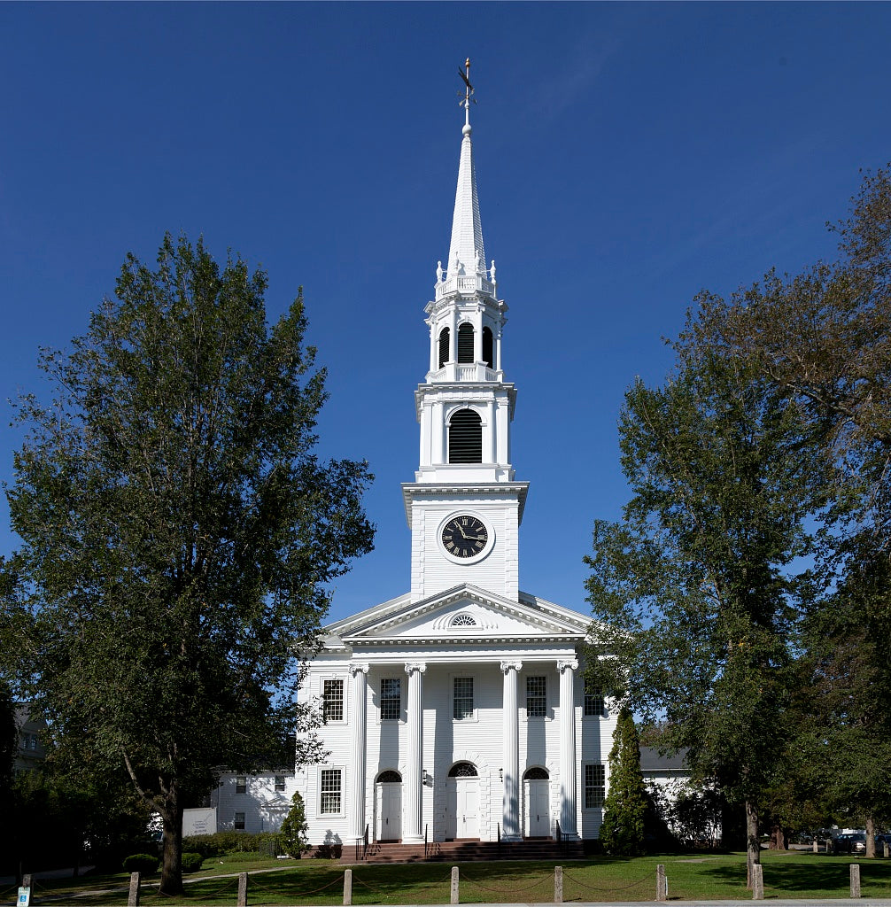 18 x 24 Photograph reprinted on fine art canvas  of First Congregational Church of Old Lyme Connecticut r88 2011 October by Highsmith, Carol M.