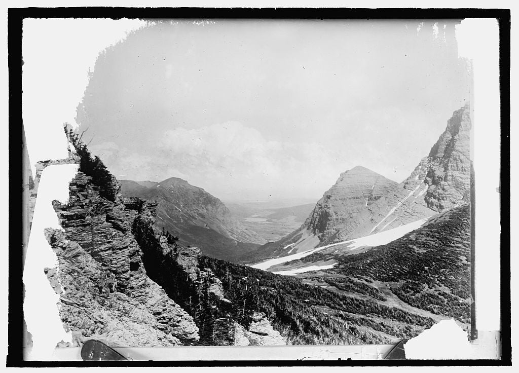 16 x 20 Reprinted Old Photo ofGlacier Nat'l Pk. View East from Swift Current Pass 1914 National Photo Co  84a