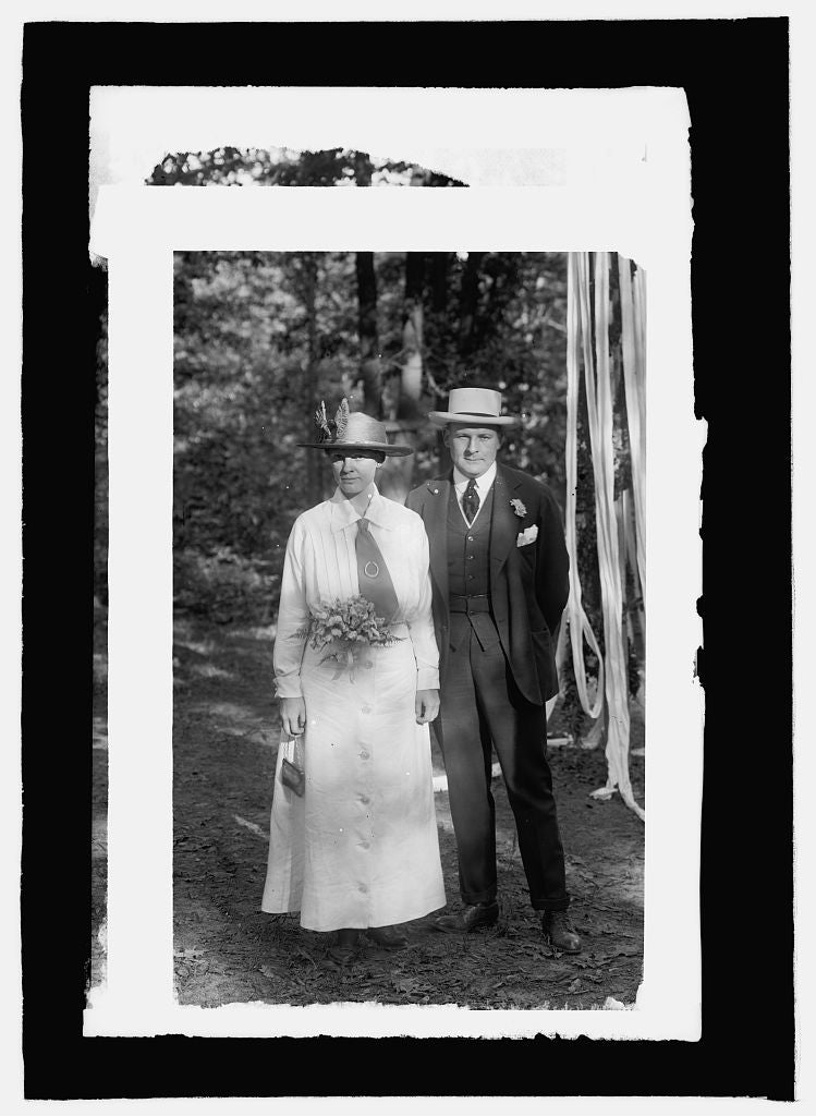 16 x 20 Reprinted Old Photo ofMr. & Mrs. Randall H. Hagner 1914 National Photo Co  25a